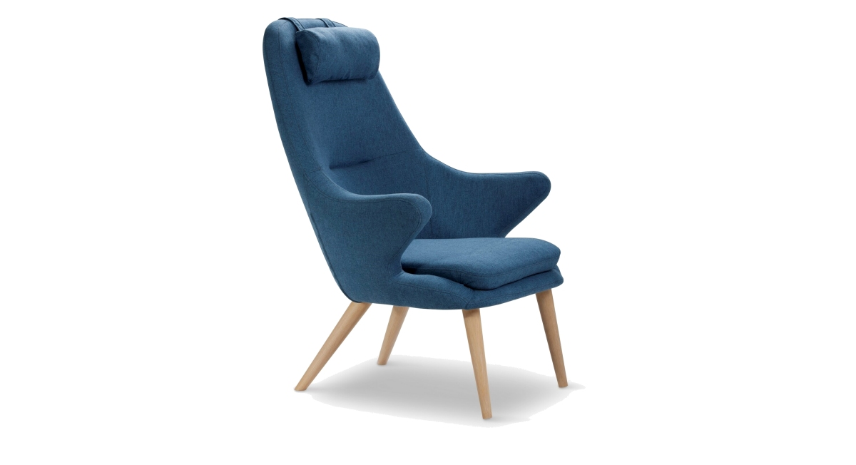 Scandinavin chair with head pillow