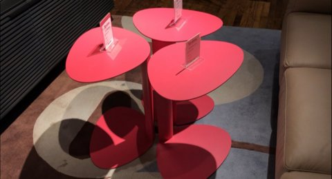 Clearance BDI Pink Bink Table $99 AS IS