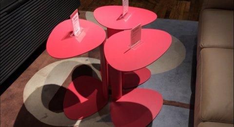 Clearance BDI Pink Bink Table $79 AS IS FLOOR MODEL