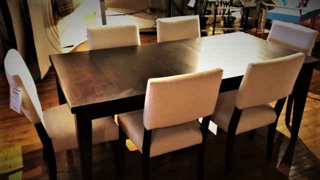 Clearance Canadel  Table With Six Chairs $2299 AS IS
