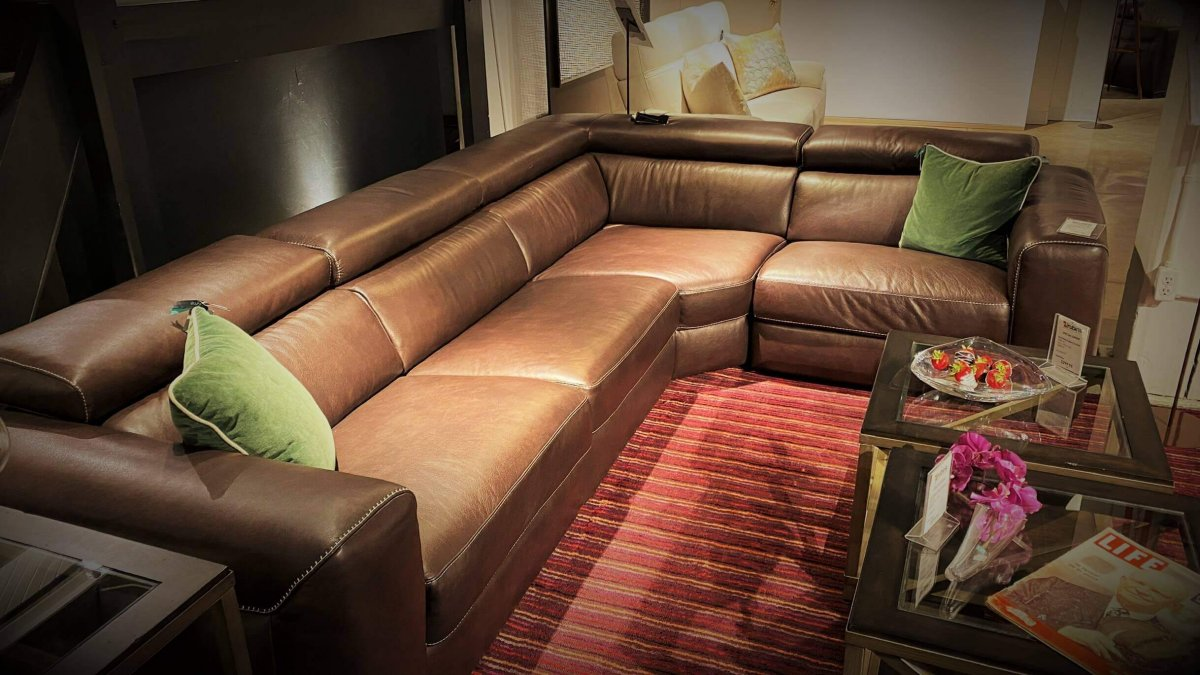Clearance Natuzzi Forza Power Sectional Floor Model $2999 AS IS