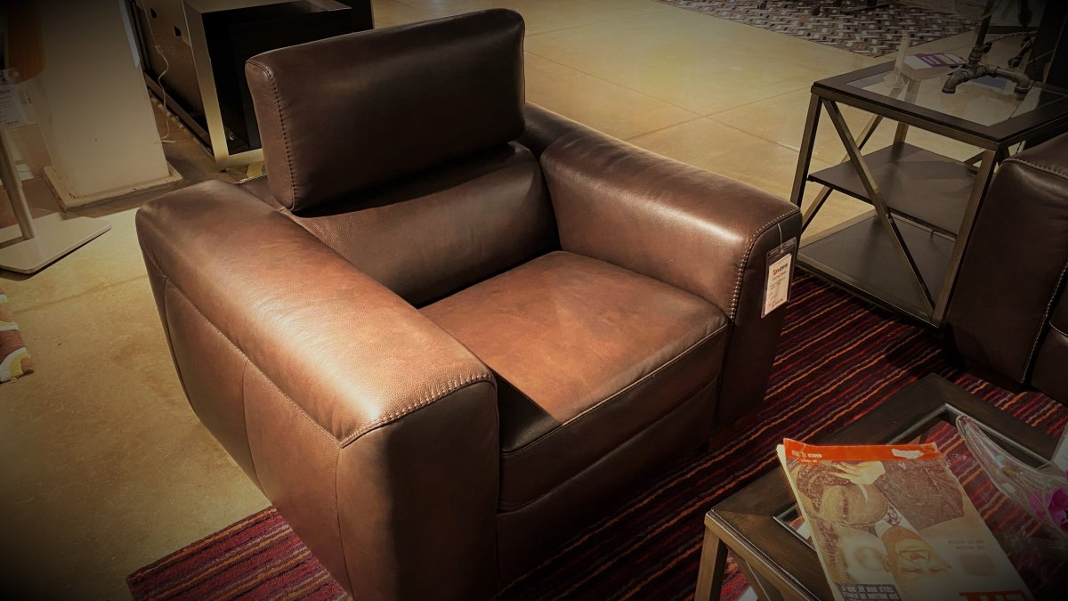 Clearance Natuzzi Forza Chair, Floor Model  $999 AS IS
