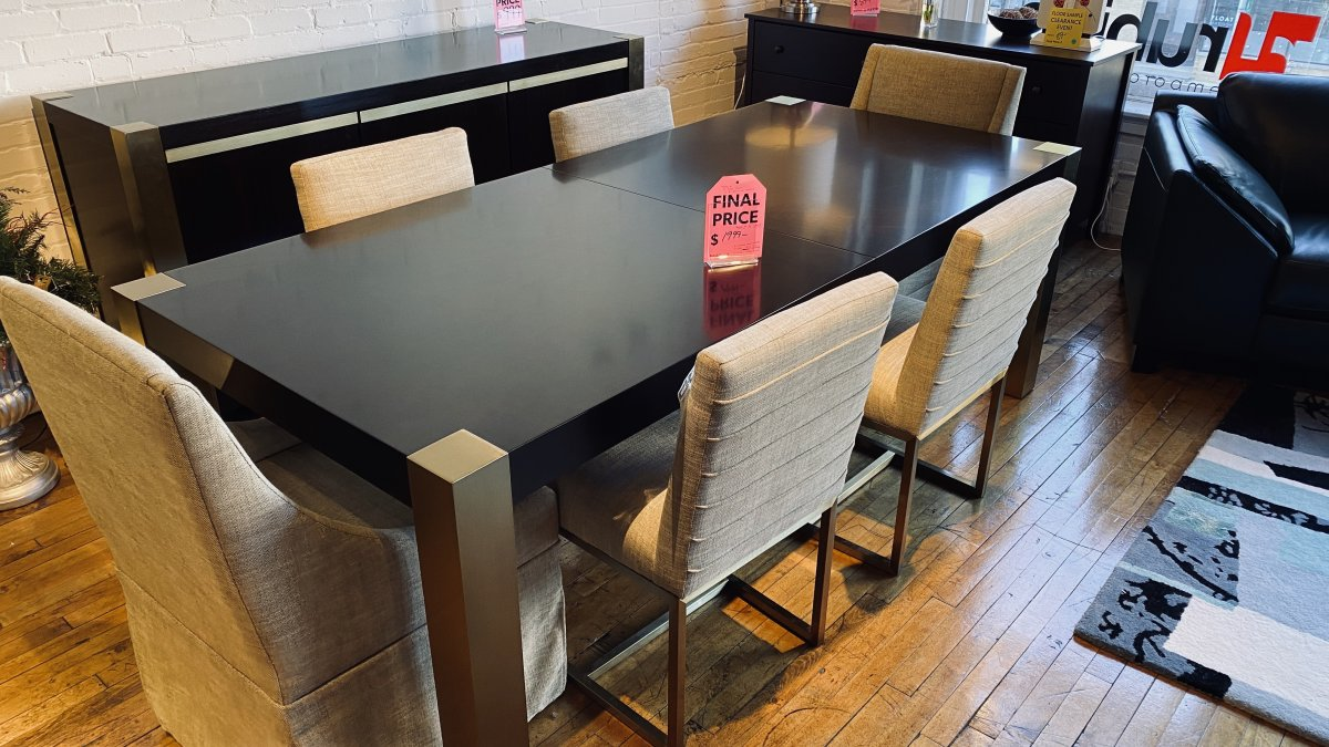 Clearance Universal Table With Six Chairs $999 AS IS