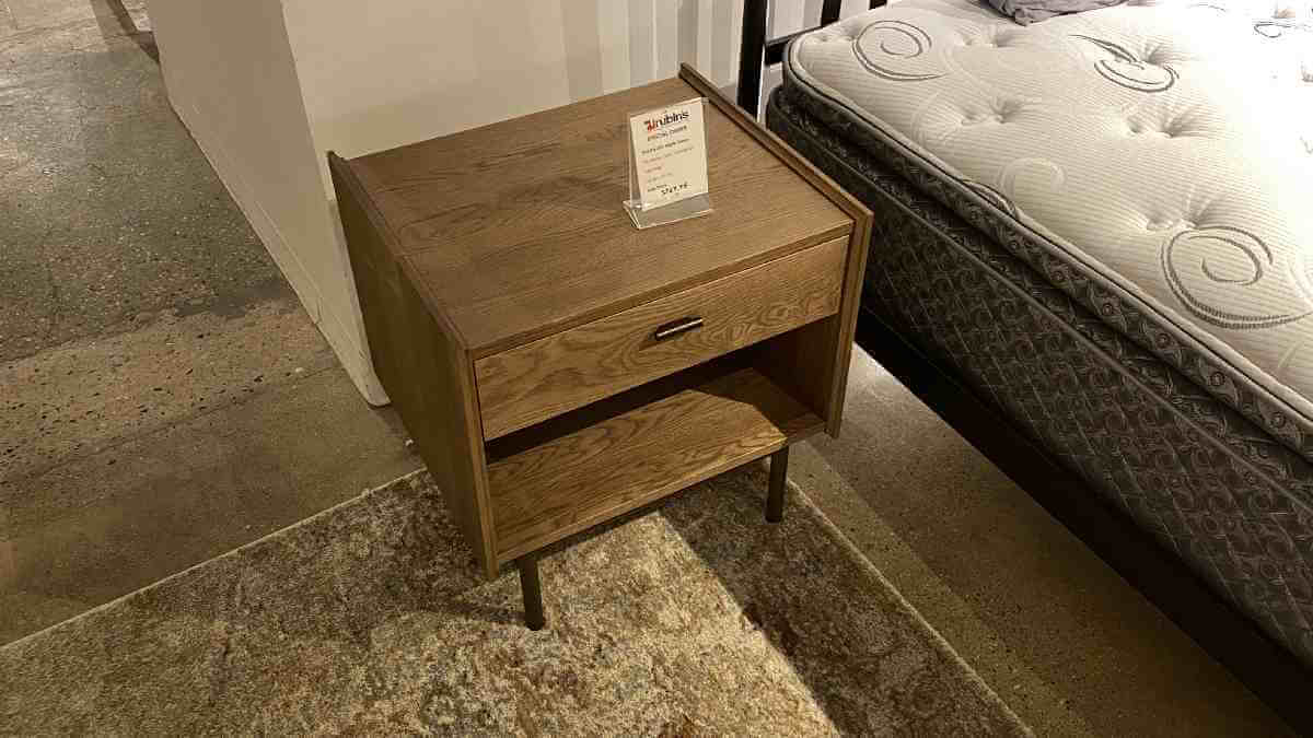 Strada 327 Nightstand Solid Oak $499 AS IS FLOOR MODEL