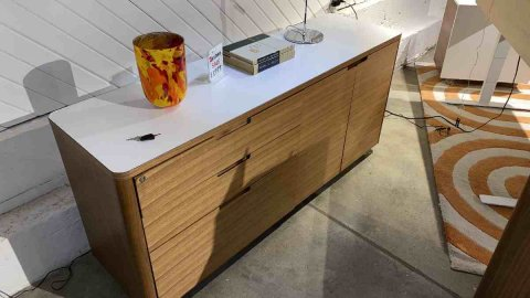 BDI On Sale Kronos Mobile Credenza $1199 AS IS FLOOR MODEL Downtown Store