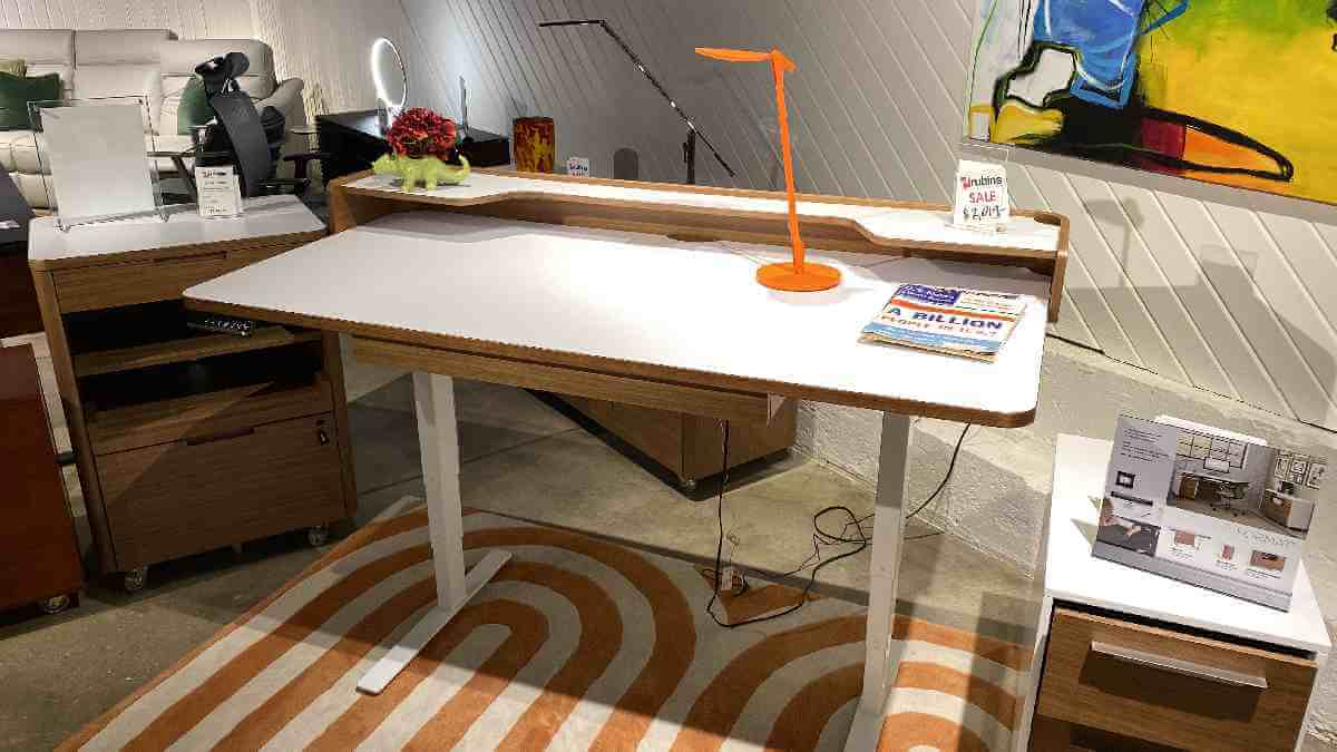 BDI Kronos Lift Desk $1649 AS IS FLOOR MODEL