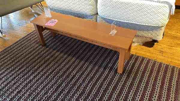 Solid Cherry Bench $599 AS IS FLOOR MODEL