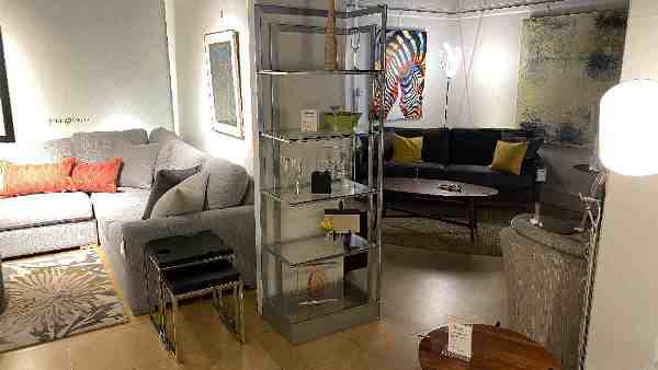 Johnston Casuals On Sale Etagere Left Encore $999 AS IS FLOOR MODEL Downtown Store