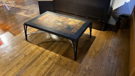 Coffee Table River Slate, And Wrought Iron AS IS $199