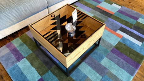 Sauder Aztec Coffee Table  On Sale $249 AS IS FLOOR MODEL Downtown Store