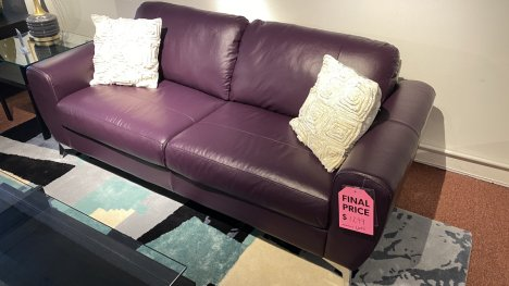 Vivy Sofa All Leather $1299 AS IS FLOOR MODEL