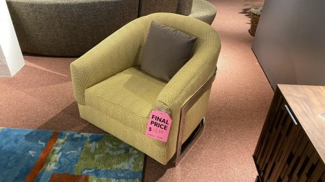Sam Moore Furniture Sale Ronan Chair $799. HAVE RIGHT AWAY!