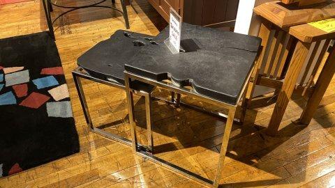 Teak, Chrome End Table Set $199 AS IS Floor Model Downtown Store