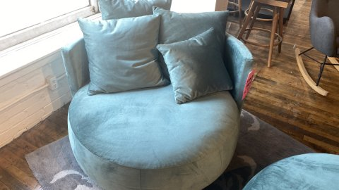 Pinnacle On Sale Pastille Swivel Chair $999 AS IS FLOOR MODEL Downtown Store