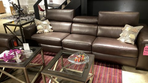 Top Grain All Leather Natuzzi Sofa $1799 AS IS FLOOR MODEL
