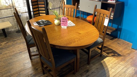 Canal Dover American Mission  Dining Room Set  $4299 AS IS FLOOR MODEL
