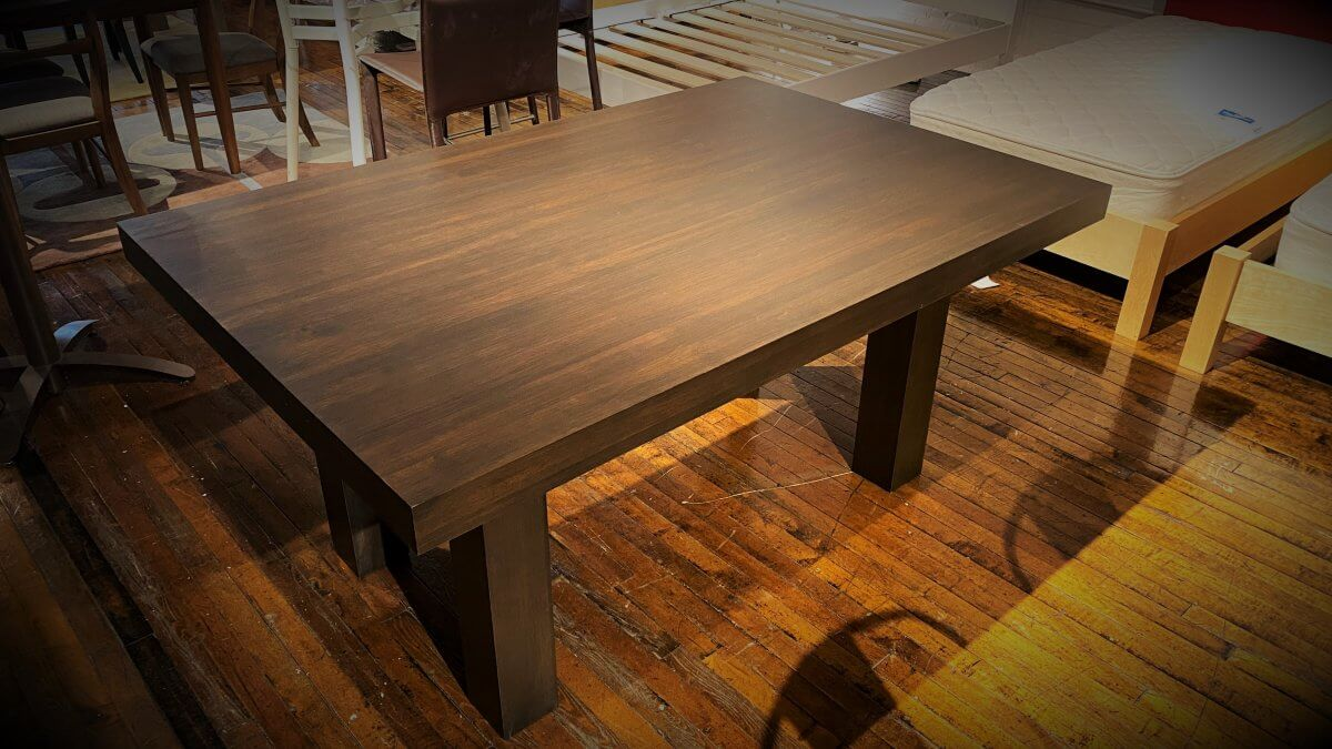 Dinec Sale Everest Dining Table $899 AT DOWNTOWN STORE AS IS FLOOR MODEL