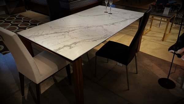 Calligaris Furniture Sale Omnia $2999 Extension Table Ceramic Top. HAVE RIGHT AWAY!