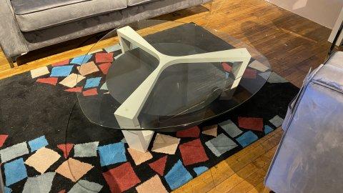Elite Modern Sale On Dalton Coffee Table $499. Hidden Drawer In Base. AS IS FLOOR MODEL, HAVE IT RIGHT AWAY!