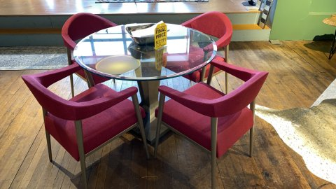 Elite Modern Sale On Beacon Table, And Tiffany Chairs AS IS FLOOR MODEL $2999 Have It Right Away