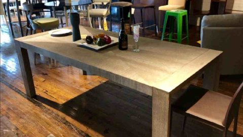 Clearance Universal Langston Dining Table $599 AS IS FLOOR MODEL