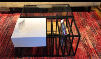 Clearance Space Frame Table Set $99 AS IS FLOOR MODEL