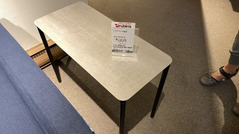 BDI TABLE $249 AT OUR WEST SIDE STORE AS IS FLOOR MODEL
