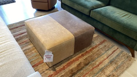 Younger Qaud Ottoman $699 AT OUR WEST SIDE STORE AS IS FLOOR MODEL