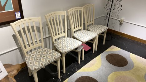 Canadel Set Of Four Dining Room Chairs $520 AT OUR WEST SIDE STORE AS IS FLOOR MODEL