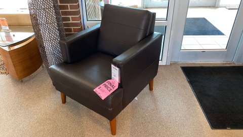 EQ3 Furniture Sale Melody Chair Leather $599 AS IS FLOOR MODEL WEST STORE.  IN STOCK HAVE IT RIGHT AWAY!