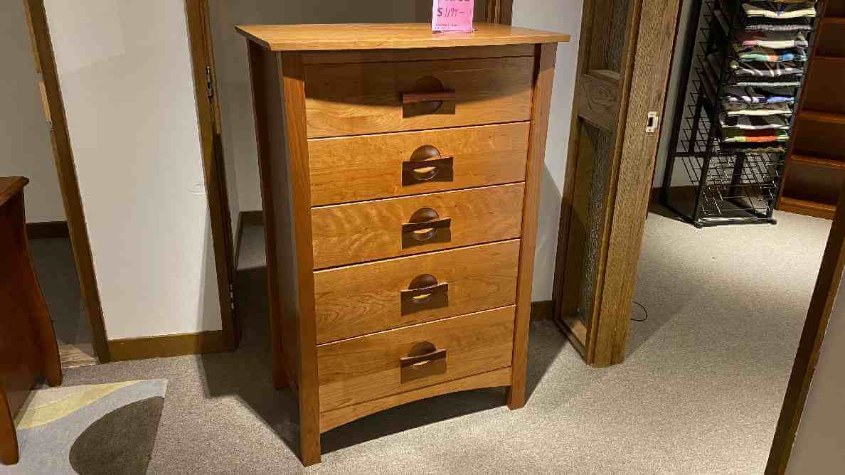 Copeland Furniture Sale On Berkeley Five Drawer Chest $1099 AS IS FLOOR MODEL.  IN STOCK HAVE IT RIGHT AWAY!