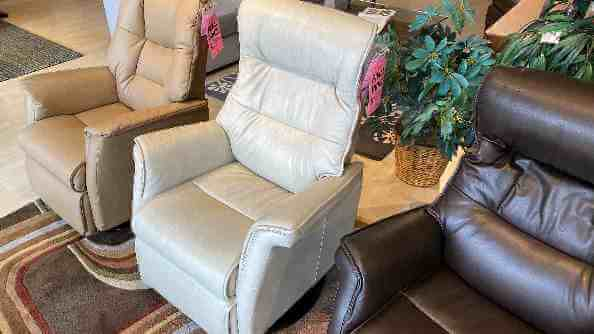 IMG Comfort Furniture Sale Chelsea Compact Leather Power Headrest, Lumbar Recliner $1799 Sauvage Leather. HAVE RIGHT AWAY!