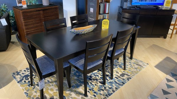 Sale On Canadel Table, And Six Chairs Solid Birch $1999 Have It Right Away!