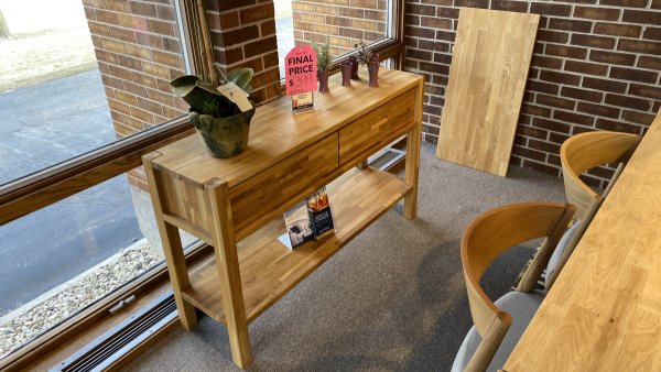 EQ3 Furniture Sale On Harvest Console Table $399 AS IS Floor Model-Have It Right Away!