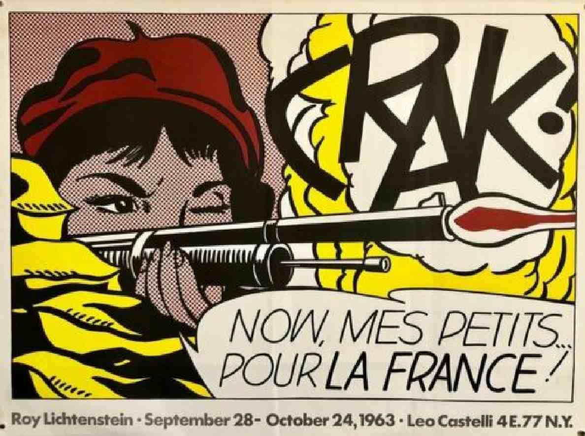 Roy Lichtenstein CRAK Modern Reprint